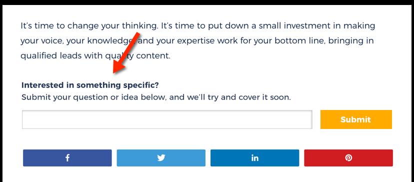 Zenpost Automate Blog Post Ideas Form