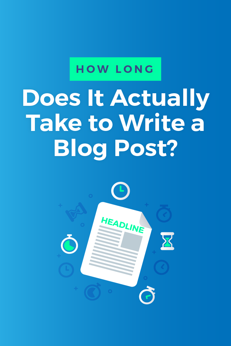 The harsh truth about writing blog posts is it takes a lot of time. Here, we explain exactly how much time it takes to write the average blog post...