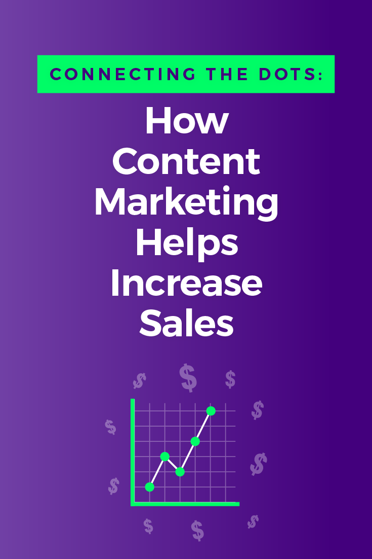 Content marketing helps boost sales by informing potential customers at each step of the buying process. It builds trust so customers take positive action.